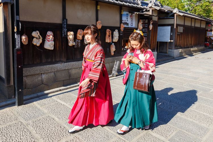 Women Clothing Traditional Clothing Architecture Building Exterior Real People Adult Built Structure Lifestyles Street Fashion City Day People Females Full Length Young Adult Nature Outdoors Sister