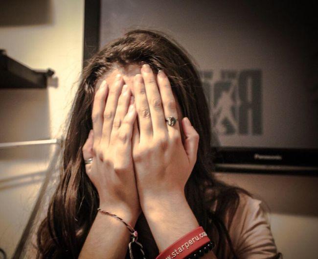 2012 Embarrassment Real People Human Hand Headshot Women Tensed Day Adult People EyeEmNewHere