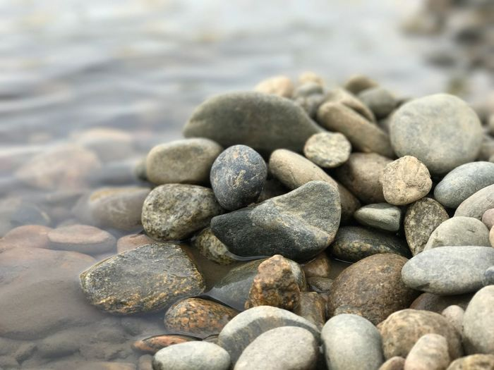 Stones Pebble Beach Nature Close-up No People Pebble Beach Textured