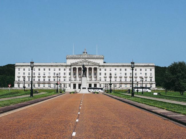 Northern Ireland parliament in Stormont Belfast Belfast Northern Ireland Parliament Building Stormont Architecture Parliament Stormont Estate Stormont Parliament