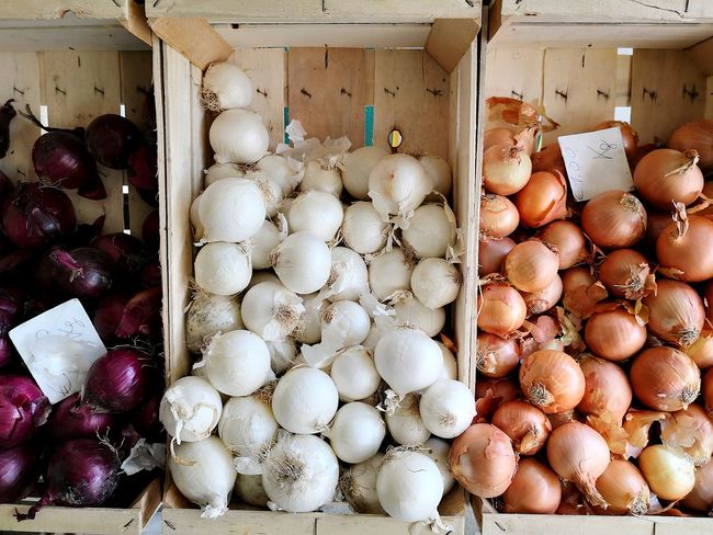 Red, white and brown onions Freshness Fresh Produce Onions Red Onions White Onions Brown Onions Market Stall Supermarket Farmer's Market Groceries Refrigerated Section Homegrown Produce Farmer Market Produce Aisle For Sale Shopping Basket Aisle Beet