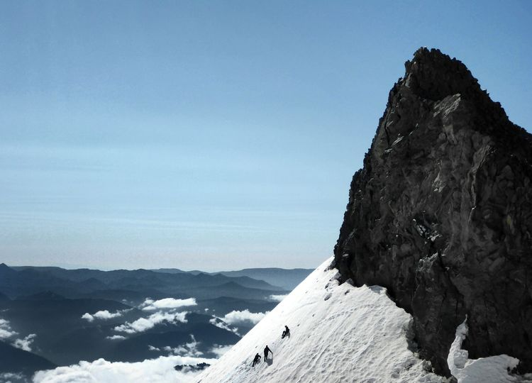 Climbers at Camp Muir on Mt. Rainier. What Makes You Strong?