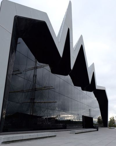 Architecture Built Structure Outdoors No People Building Exterior Day Sky Glasgow  Riverside Museum Modern