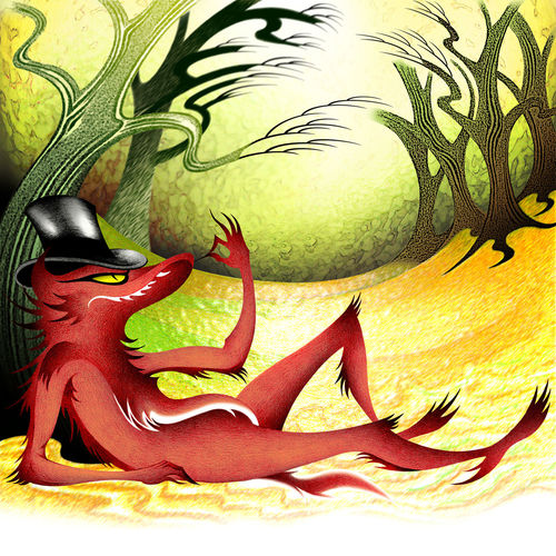 Colored pencil illustration/digital artwork for 'Red Riding Hood and The Wolf', a children's book written and published by Amelia Picklewiggle. Adobe Illustrator Adobe Photoshop Art Art, Drawing, Creativity Children's Book Illustration Children's Books Composition Creativity Dramatic Drawing Fantasy Illustration Illustrationart Imagination Imaginationarts Layout Multi Colored Multimedia Multiple Layers Story Storytelling Unreal Fantastic Whimsey Whimsical Whimsical World