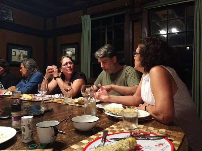 Mealtime Dinner Time Enjoying Life Party Birthday Dinner Conversation Friends