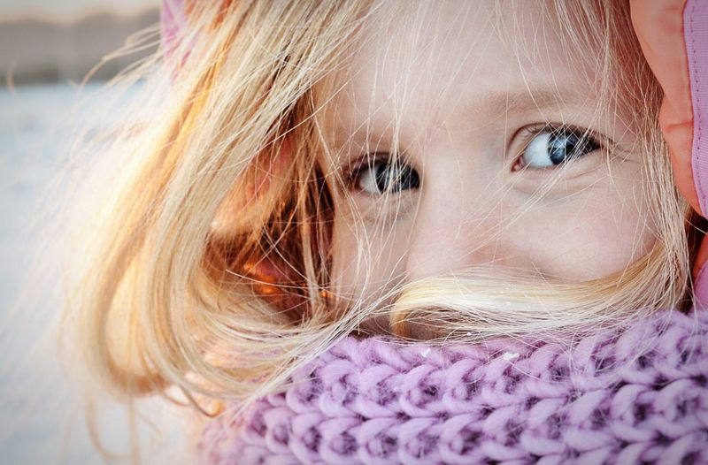 Winter time Close-up Blond Hair One Person Portrait Real People Day People Child Winter Wintertime Holland