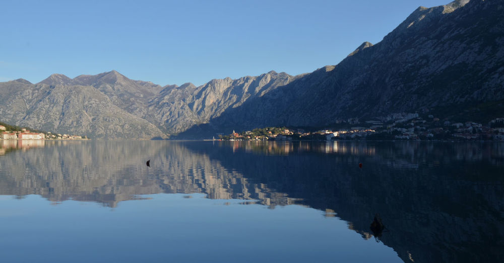 Bay Of Kotor Beauty In Nature Lake View Landscape Montenegro Mountain Mountain Range No People Reflection Reflection Lake Water