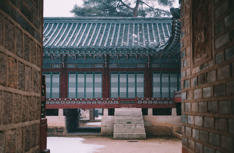 Snowy Changdeokgung Palace, Seoul Architecture Architecture_collection Changdeokgung Palace Frame In Frame Korean Royal Palace