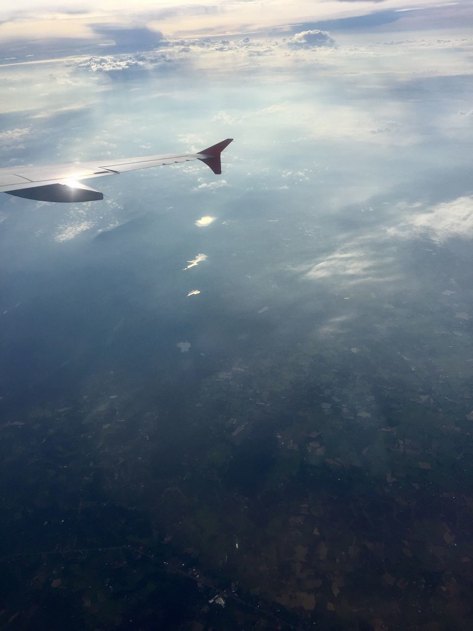 aerial view, nature, airplane, airplane wing, transportation, no people, sea, beauty in nature, day, outdoors, water, sky, scenics, flying