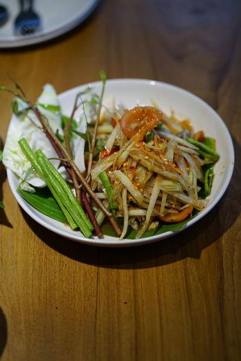 Thai Food Somtum Somtum Thai No People No Person Day Spicy Food Thai Salad Italian Food Plate Vegetarian Food Savory Food Close-up Food And Drink Prepared Food Serving Dish