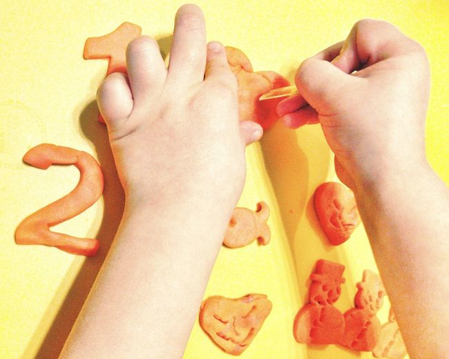 Kids Playing Kidsart Kidsartwork Numbers Pawns Snowmans Pastel Power Hands At Work Shaping Dough Kids Hands Pastel Yellow Pastel Orange Soft