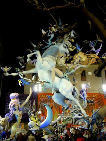 Valencia, Spain Fallas 2013 Big Size Sculpture Cartapesta Horse