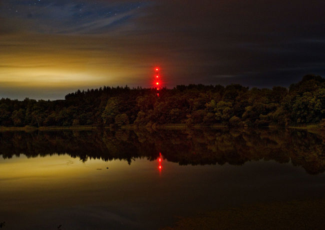 Atmosphere Cloud Light Pollution Long Exposure Night Nighttime Reflections Sky Tripod Water