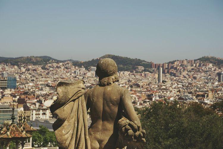Barcelona Sculpture Views Montjuic Summer ☀