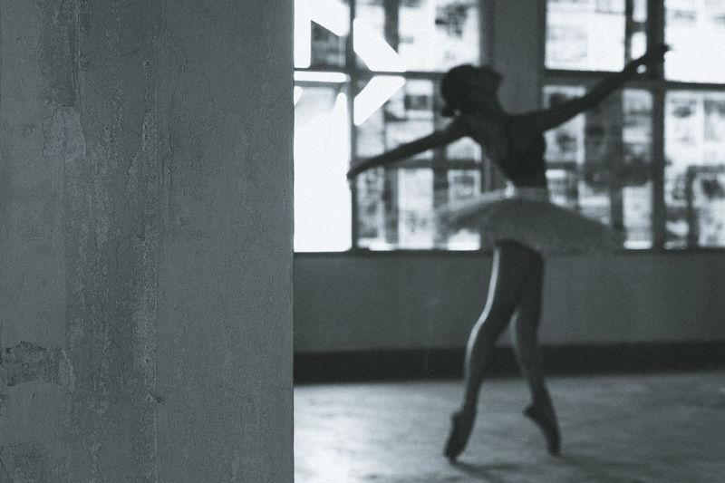 Full Length Of Ballet Dancer Dancing