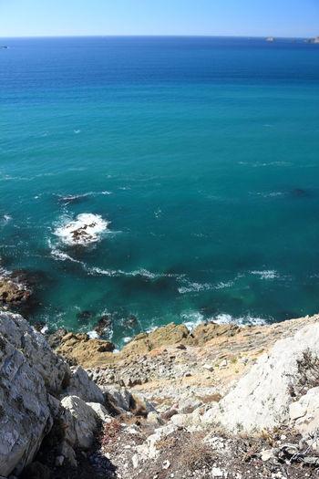White cliffs on