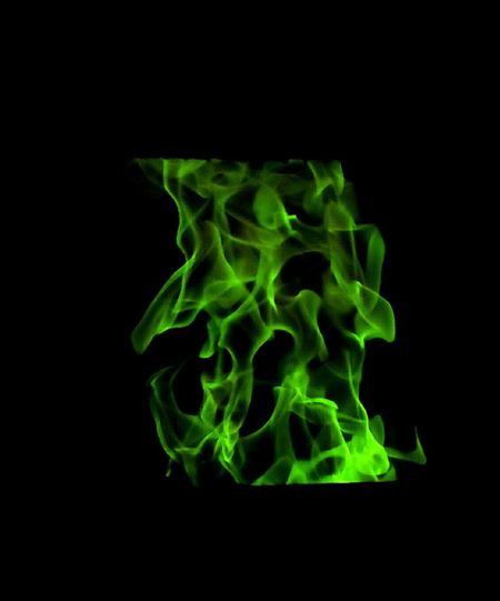 Abstract Black Background Playing With Effects Green Color Neon Colors Pattern Fragility Studio Shot Backgrounds No People Close-up Magic Flames Black Background Tranquility Indoor Lighting Night Glowing Burning Fireplace Flame Heat - Temperature