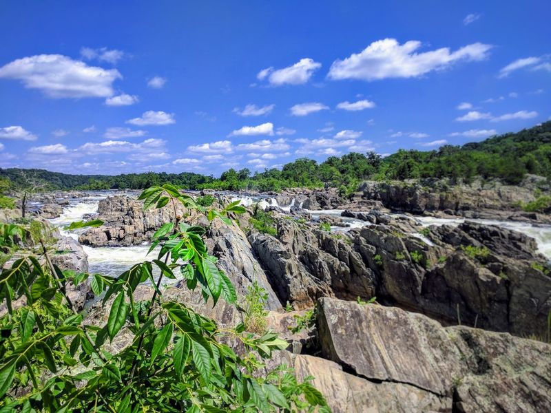 At Great Falls NP. Outdoors Landscape Beauty In Nature Waterfall Cloud - Sky Water Washington, D. C. Great Falls National Park