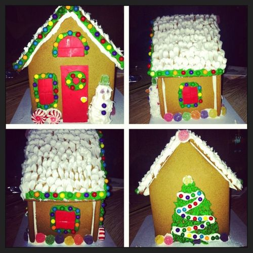 Picstitch  ChristmasEve2012 Tradition Sisterbonding GingerbreadHouse MerryChristmas HoHoHo ???❤
