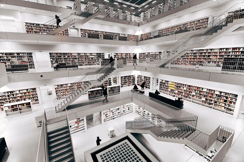 Indoors  Shelf In A Row Bookshelf Education Architecture High Angle View Library Built Structure Technology University Large Group Of Objects Factory Research Production Line Science No People Day Breathing Space
