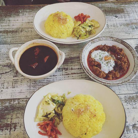 ナンディカレー&キーマカレー@ナンディ Carry India カレー インドカレー ナンディ ターメリックライス キーマカレー ナンディカレー 広島 Curry