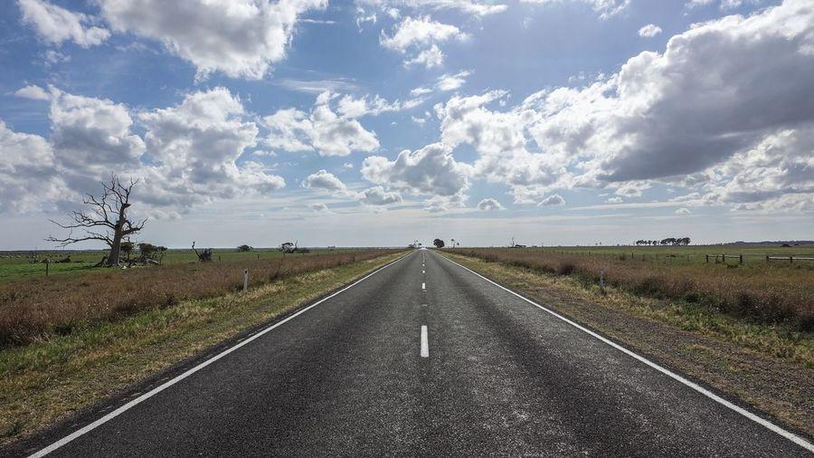 Road passing through rural landscape