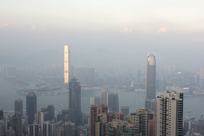 Asian Cities Colour Your Horizn Hk Hong Kong Hong Kong City Modern Architecture Skyscrapers Architecture Building Exterior Built Structure China City Cityscape Day Densely Built Haze Highrise Hong Kong Island Modern No People Outdoors Skyscraper Sunset Urban Skyline