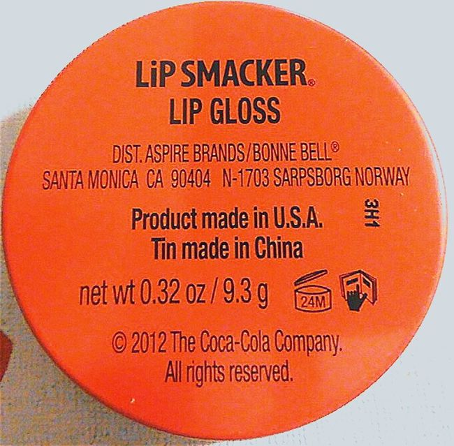 Lipgloss Product Information Productinformation Text Western Script WesternScript Orange And Black Black & Orange Blackandorange Orangeandblack COKE Merchandise Black And Orange Lipsmacker LiP SMACKER ® Made In The Usa Lip Smacker Lip Gloss Information