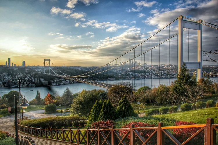 Istanbul Turkey Bosphorus Bridge Sunset My Country ın A Photo
