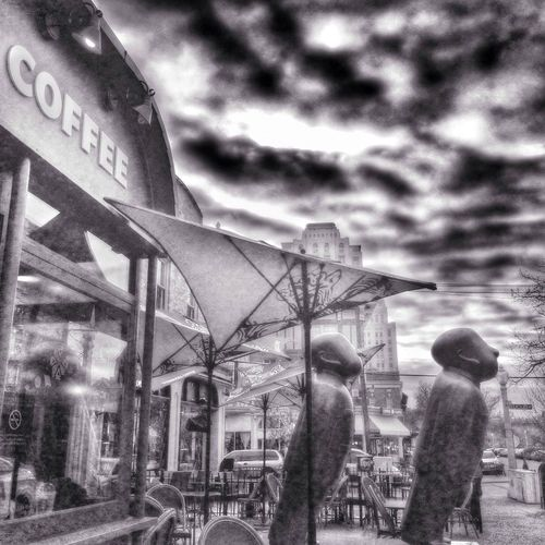 View from the coffee shop AMPt_community Monochrome Saint Louis Black And White