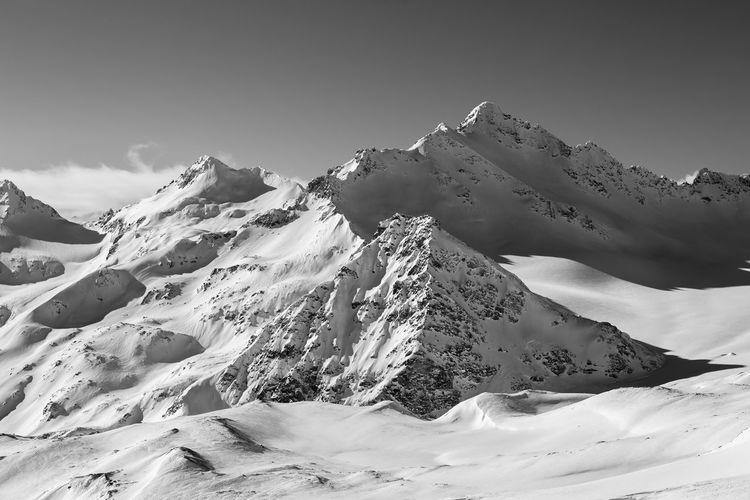 Elbrus mountains in the caucasus