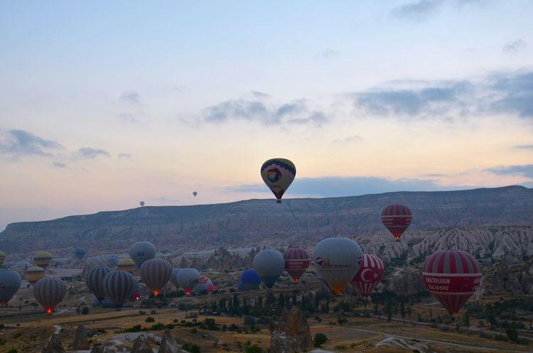 Hot air baloons - Göreme Turkey Hotairballoons Kapadokya Hello World