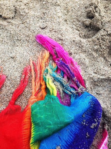 Multi Colored No People Thailand Sunbathing Close-up Sarong Sand Beach Relaxing