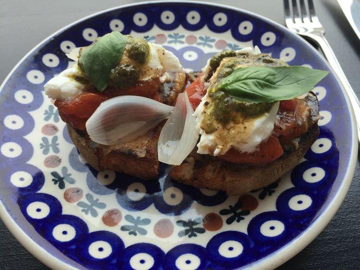 Burrata crostini Foodspotting