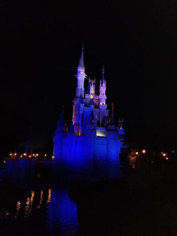 Night time at Disney world The Great Outdoors - 2018 EyeEm Awards Creative space EyeEmNewHere EyeEm Selects The Creative - 2018 EyeEm Awards Blue Illumination Castle Might Time Disney City Illuminated Architecture Historic It's About The Journey
