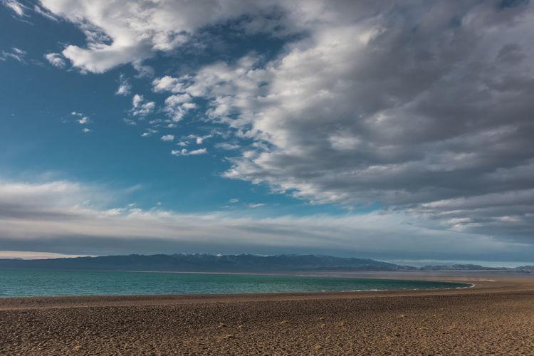 Mongolia Cloud - Sky Sky Scenics - Nature Beauty In Nature Sea Water Tranquility Tranquil Scene Land Beach Horizon Nature Horizon Over Water Non-urban Scene Idyllic Day No People Sand Outdoors