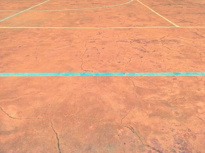 A Tenniscourt at University . That's tennis not volleyball. October 2014