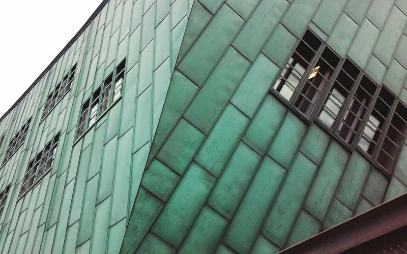 Metal Building Building Exterior Architecture Amsterdam Nemo Green Modern Buildings Complexity Structure Design