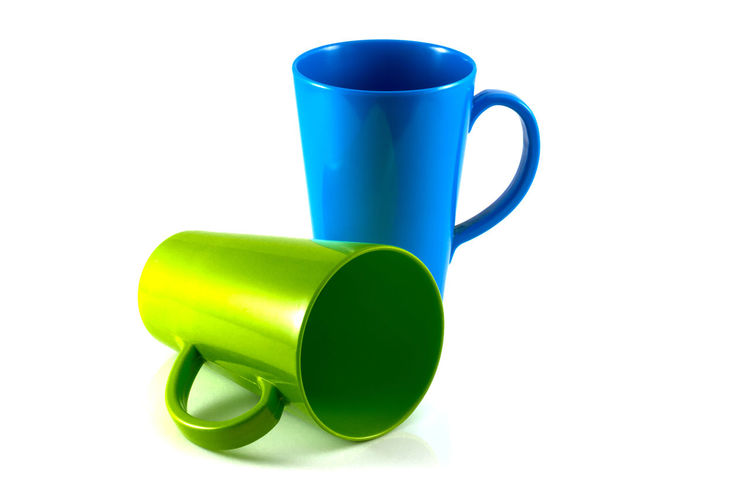 Close-up of coffee cup against white background