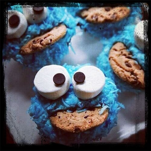 Pronto aprenderé a prepararlos :D Cupcakes Sweet Cookiemonster