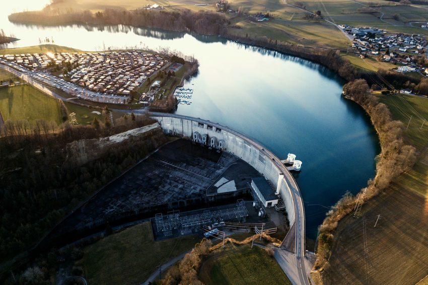 Aerial Shot DJI Mavic Pro Schiffenensee Aerial Photography Aerial View Architecture Built Structure Dam Dronephotography Engineering Fuel And Power Generation High Angle View Hydroelectric Power River Transportation Water