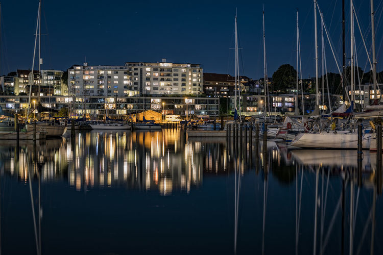 ÅrhusHarbour Architecture Baltic Sea Boat Building Exterior Calm Denmark Group Of Objects Harbor Illuminated Mast Mode Of Transport Moored Nautical Vessel Night Night Photography Reflection Sailboat Sea Standing Water Tranquil Scene Tranquility Water Water Surface Waterfront Århus