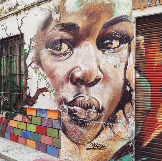 Street art Portrait arte callejero arte urbano Málaga mural Art Urban