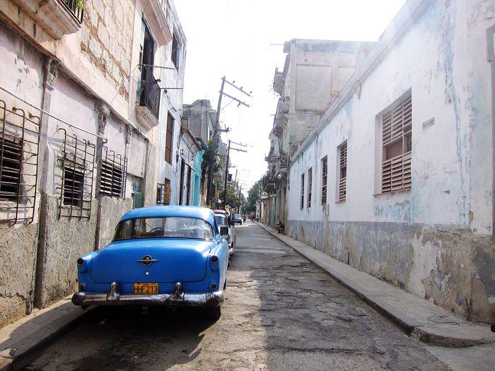 Cuba Havana Havanna, Cuba Blue Car Blue Car Old Old City Travel American Car The Essence Of Summer Fine Art Photography An Eye For Travel