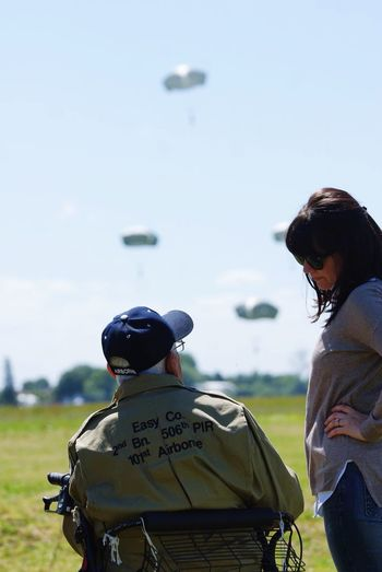 Paratroopers Veteran Dday Celebration Airborne Airborne All The Way Easy Company 101st Airborne Division