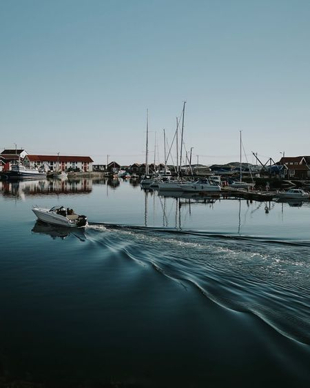 Water Sky Transportation Clear Sky Nautical Vessel Nature Mode Of Transportation Harbor City Moored Tranquility Waterfront Copy Space Architecture Sea Tranquil Scene Sailboat No People Outdoors Reflection
