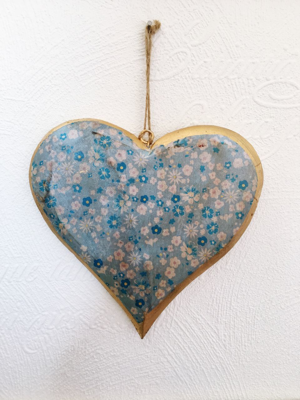 heart shape, love, locket, pendant, blue, hanging, close-up, no people, day
