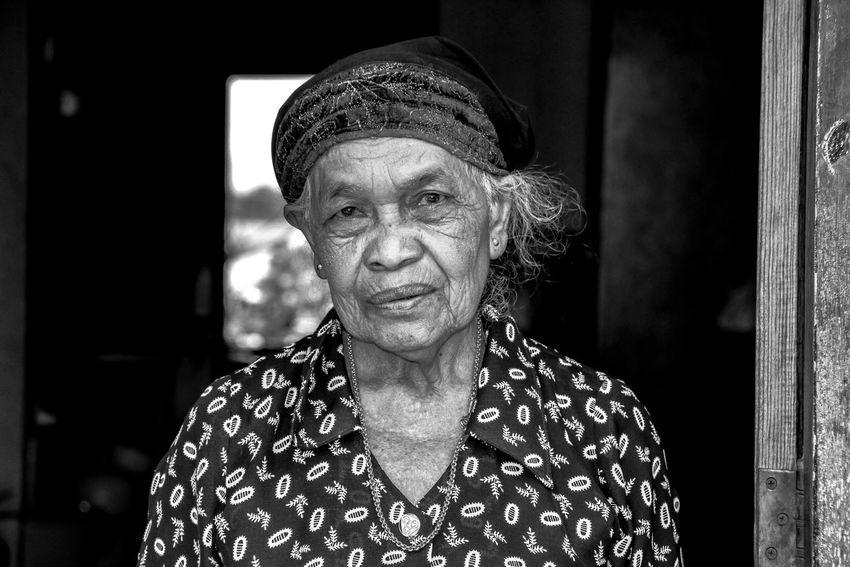 Blackandwhite Thailand Woman Oldwoman
