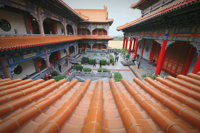 Wat Leng Noei Yi 2 Chinese Church Architecture Built Structure Travel Destinations High Angle View Balcony Architectural Column History Building Exterior Outdoors Faith Faithful