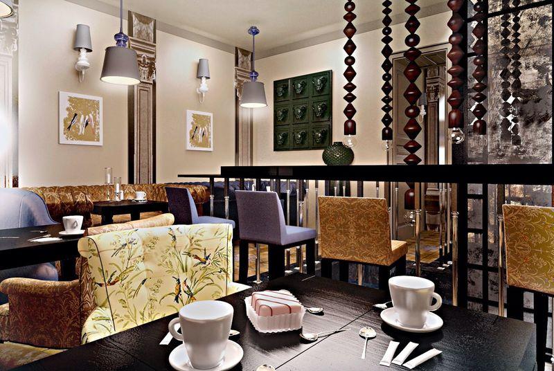 Ресторан дизайн дизайн 3d